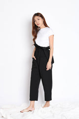 INSA DUNGAREE 2 PC SET IN BLACK