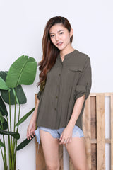 HYL LOUNGE SHIRT IN OLIVE