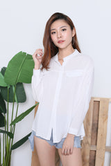 HYL LOUNGE SHIRT IN WHITE