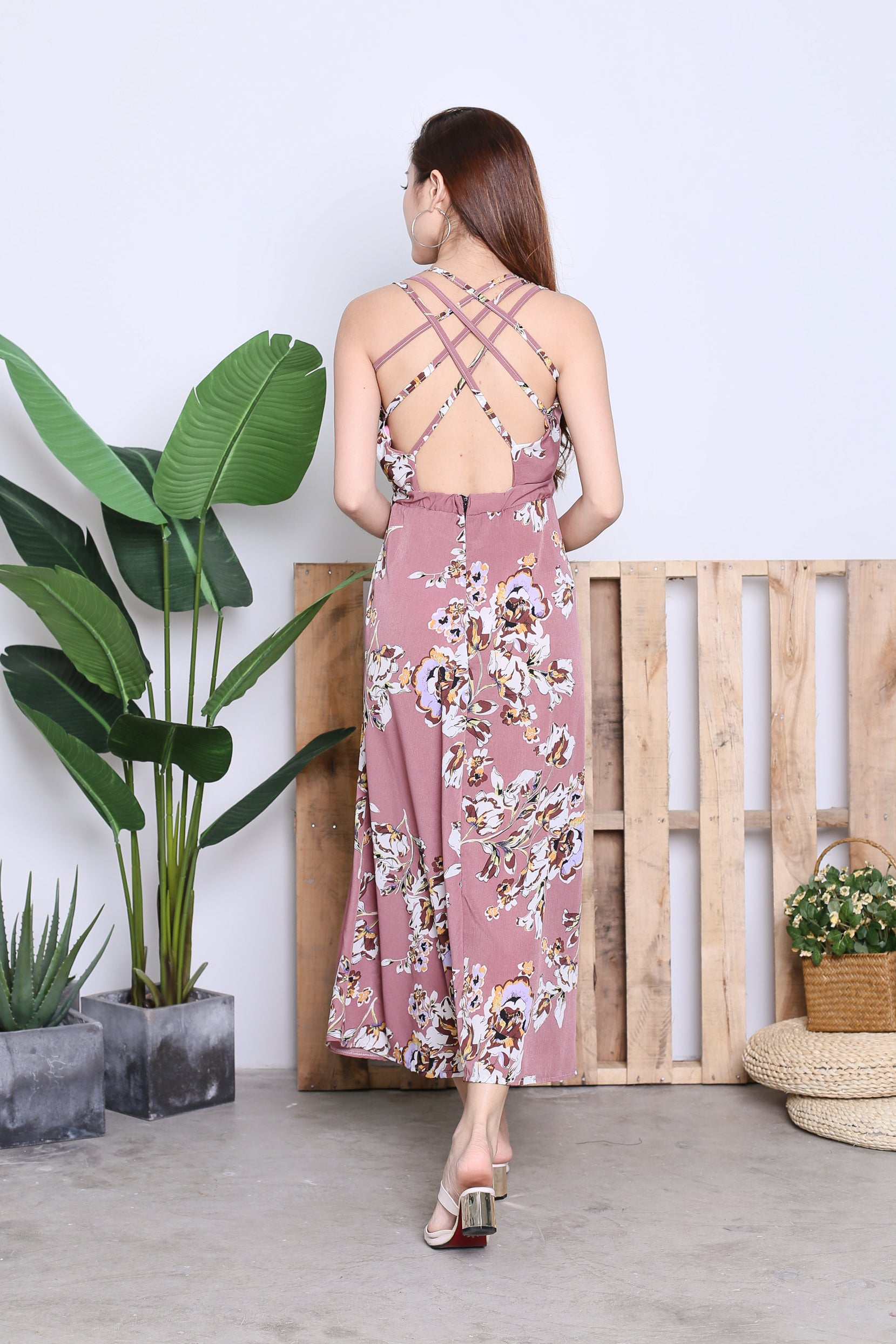 DALIS FLORAL MAXI IN DUSTY LAVENDER