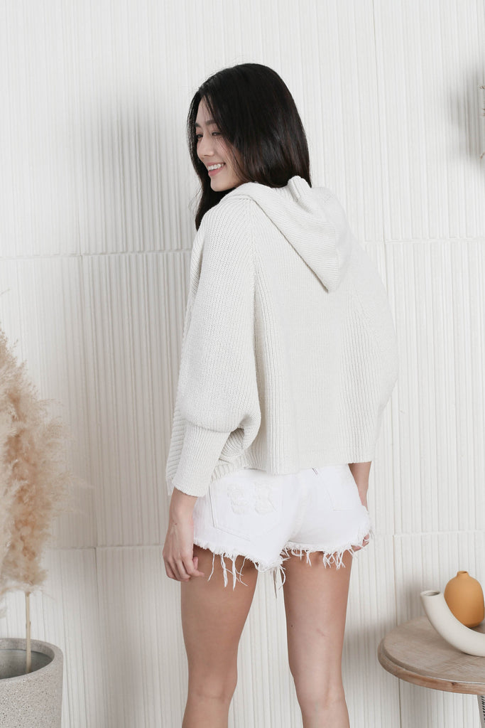 *BACKORDER* KAS HOODIE CARDIGAN IN CREAM