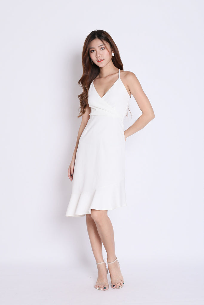 *TPZ* ZENRA DRESS IN WHITE - TOPAZETTE