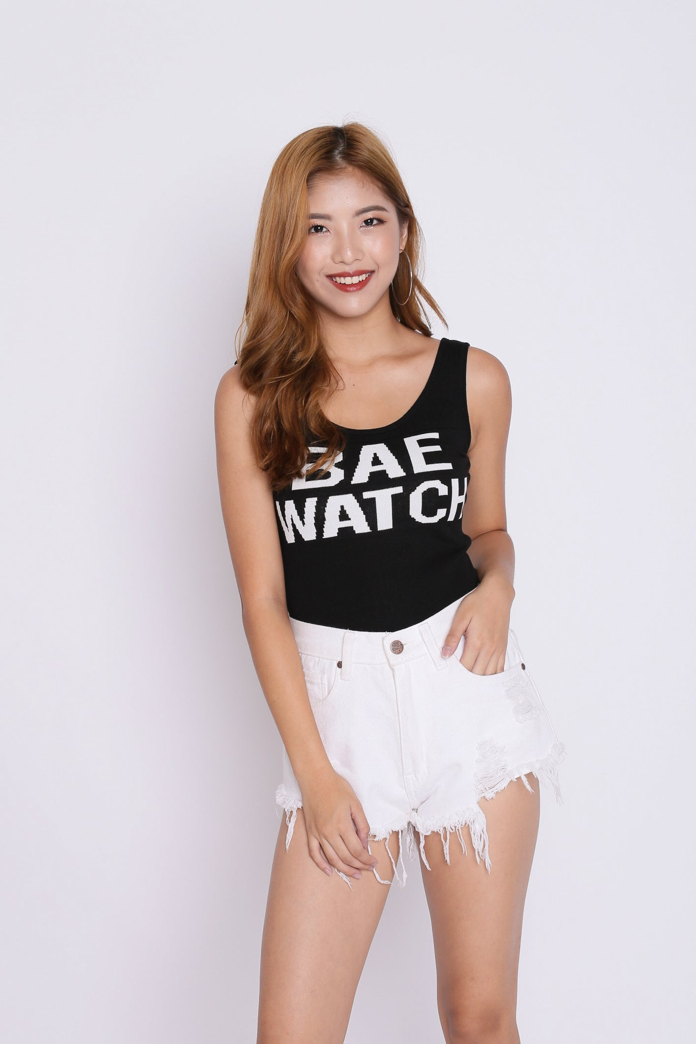 BAE WATCH KNIT TOP IN BLACK