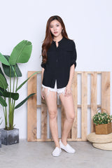 HYL LOUNGE SHIRT IN BLACK