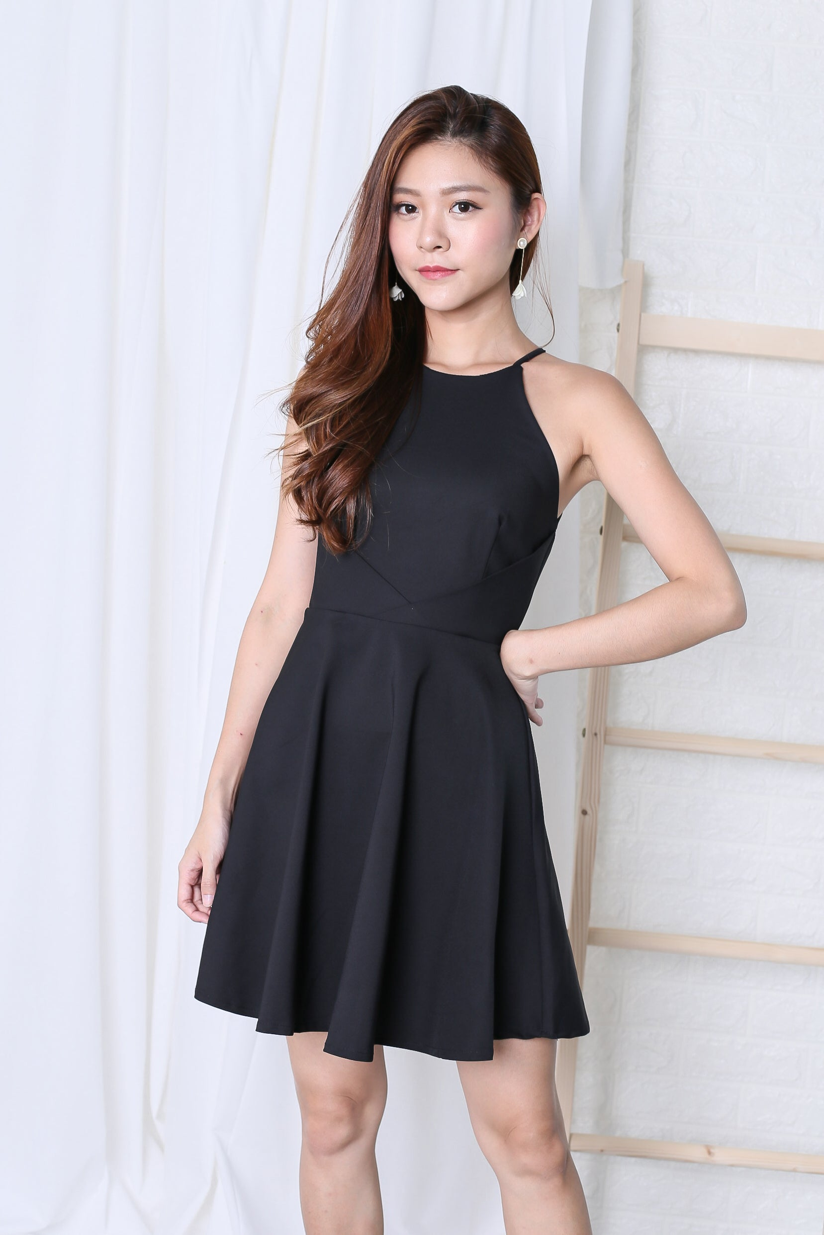 *TPZ* (PREMIUM) KAYLA SKATER DRESS IN BLACK