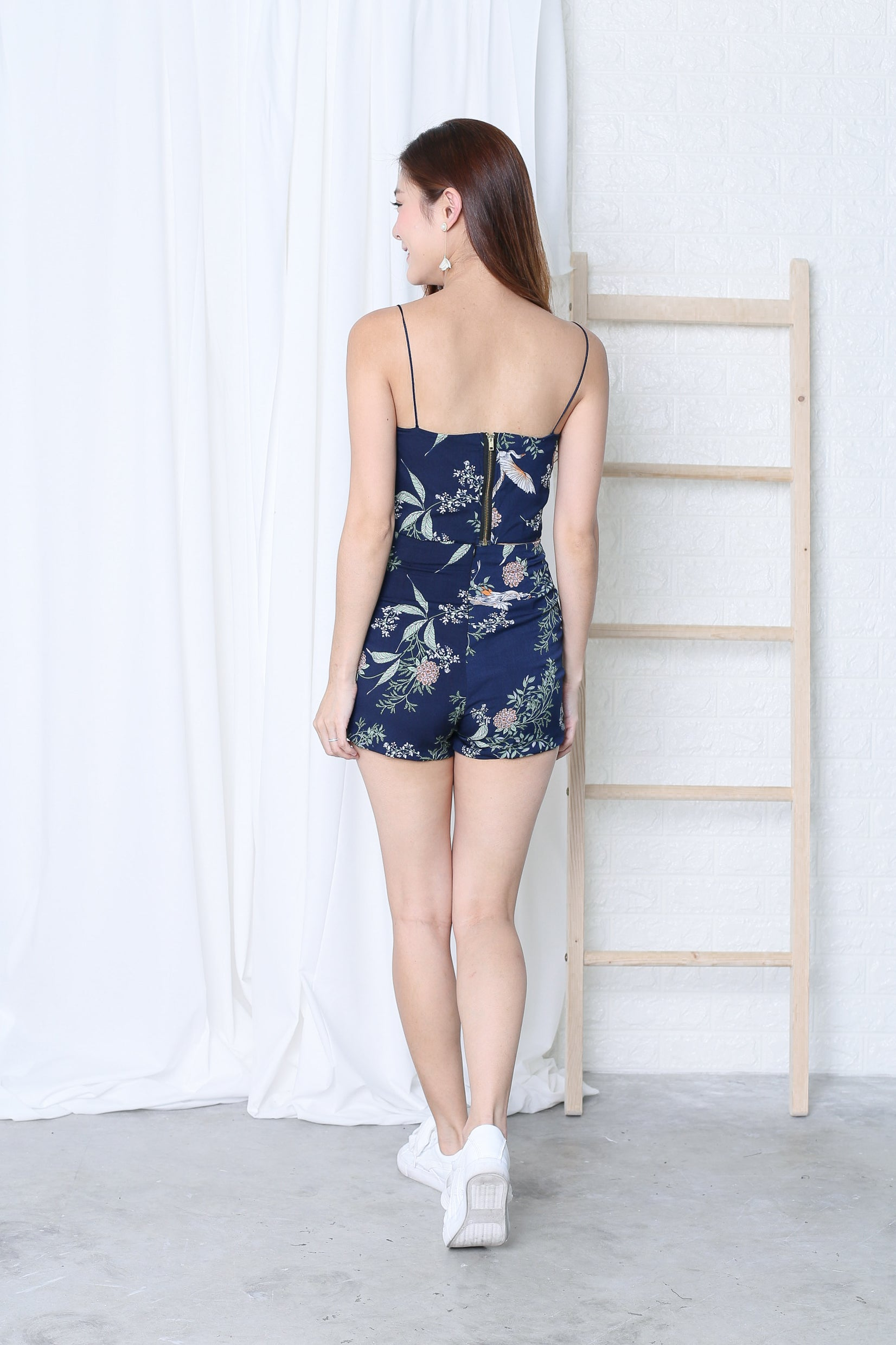 CELEST 2 PC TOP + SKORTS SET IN NAVY