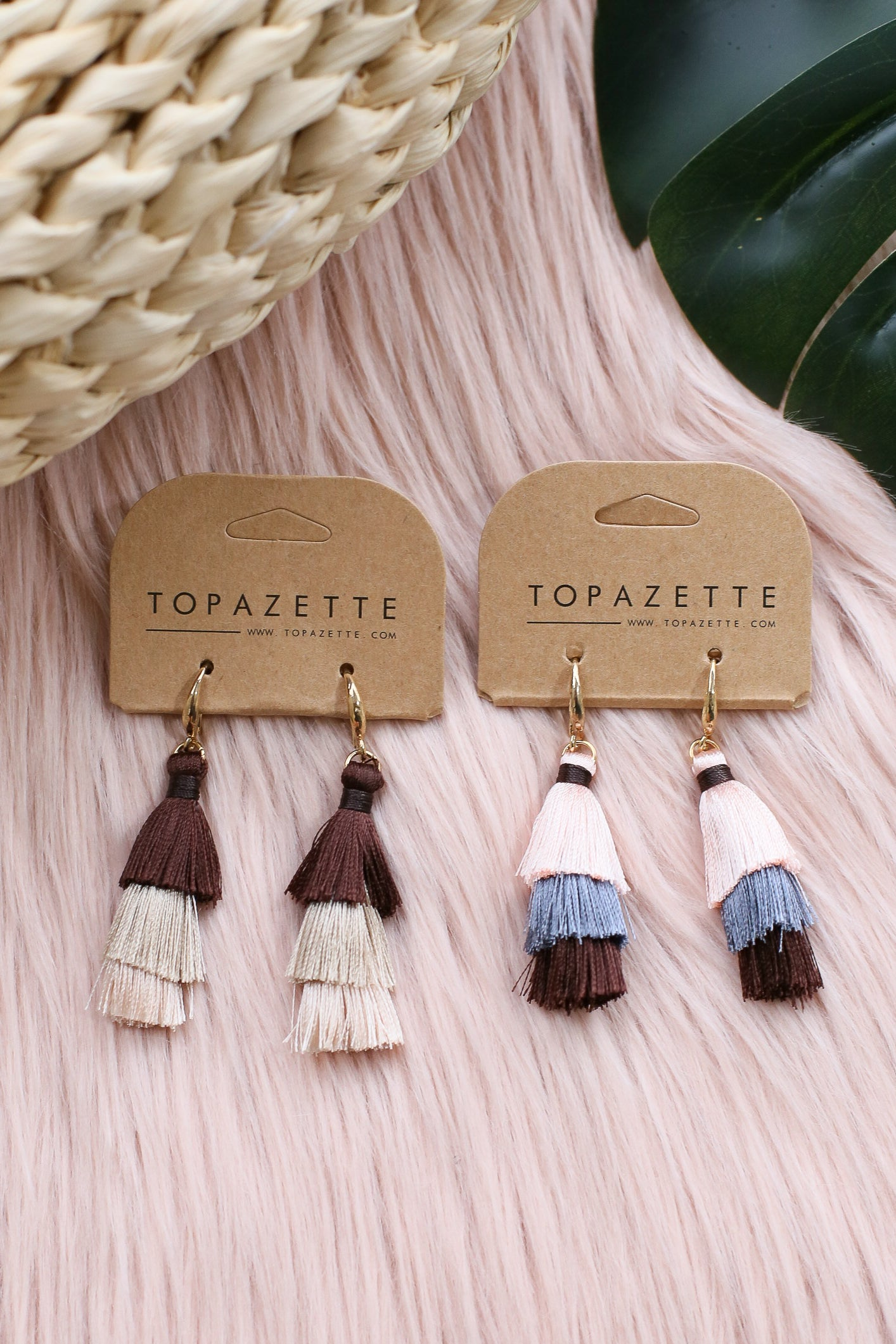 MINI OMBRE TASSEL EARRINGS
