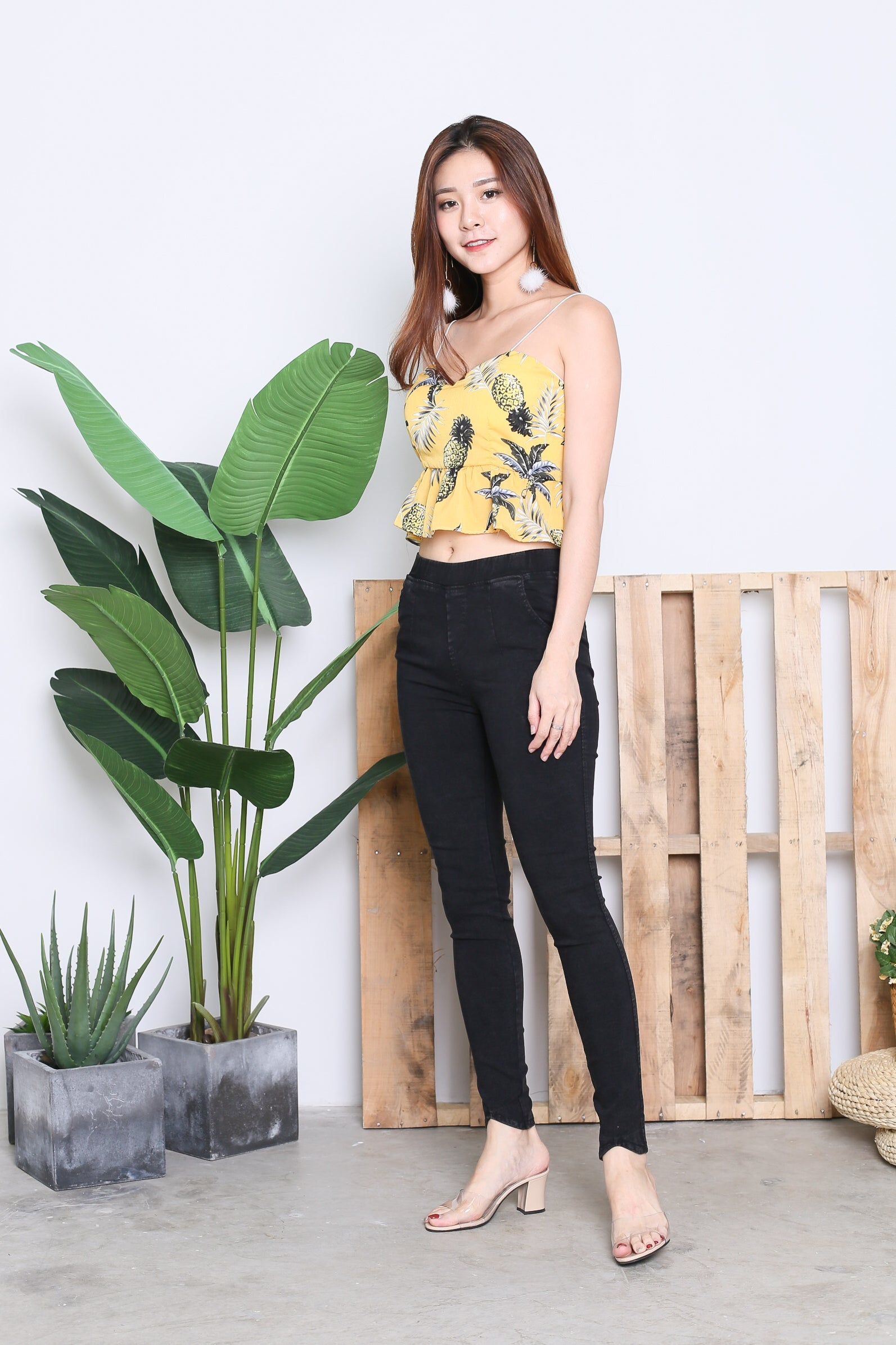 AYA RIBBON BACK TOP IN SUNSHINE PINEAPPLE