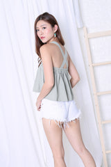 MYRID TOP IN SAGE GREEN