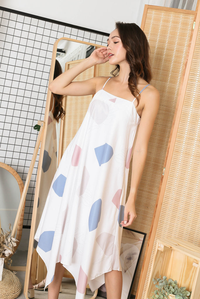 (PREMIUM) BRIAR ABSTRACT TENT DRESS IN BLUE
