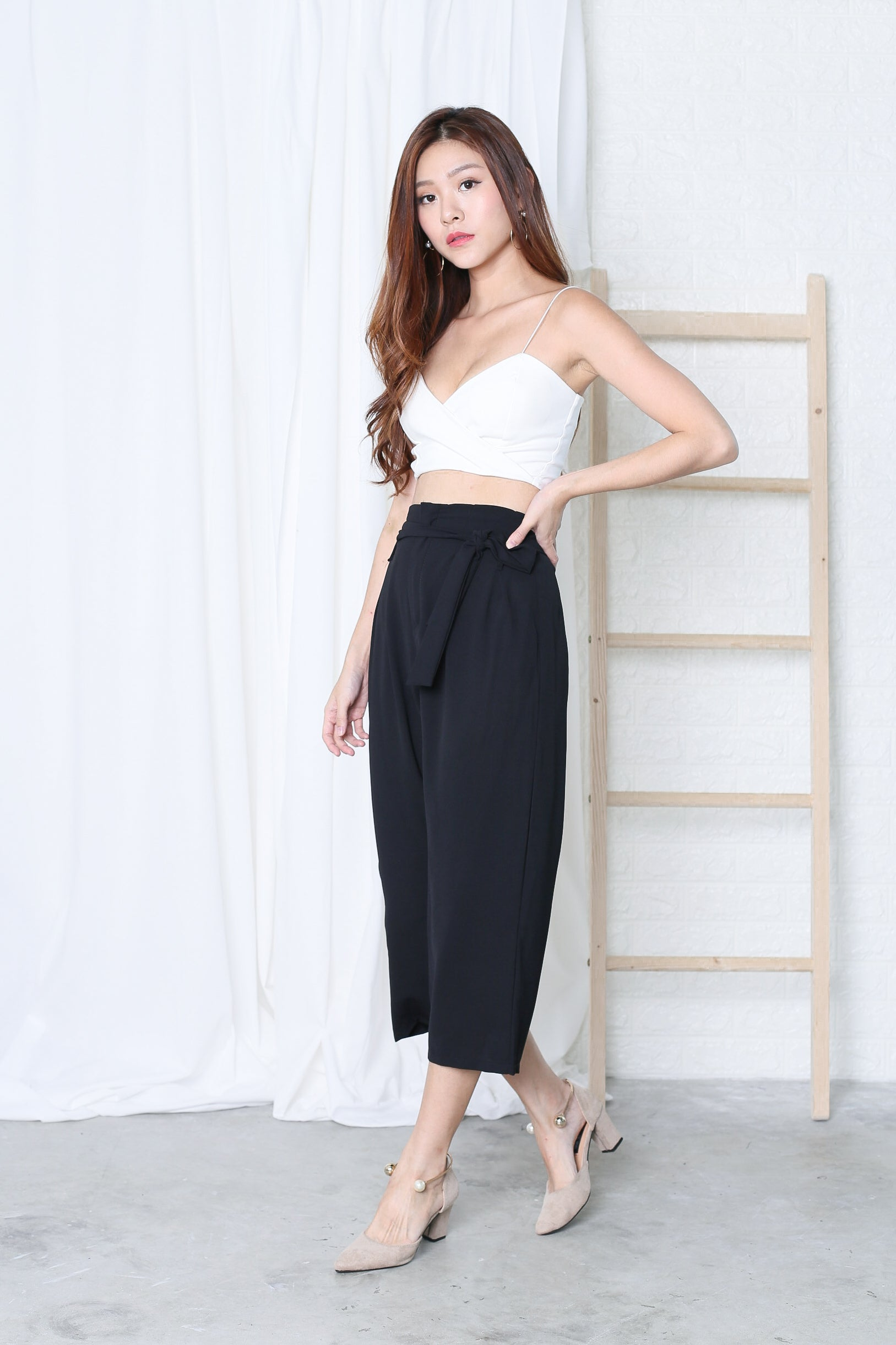 MYRID CULOTTES IN BLACK