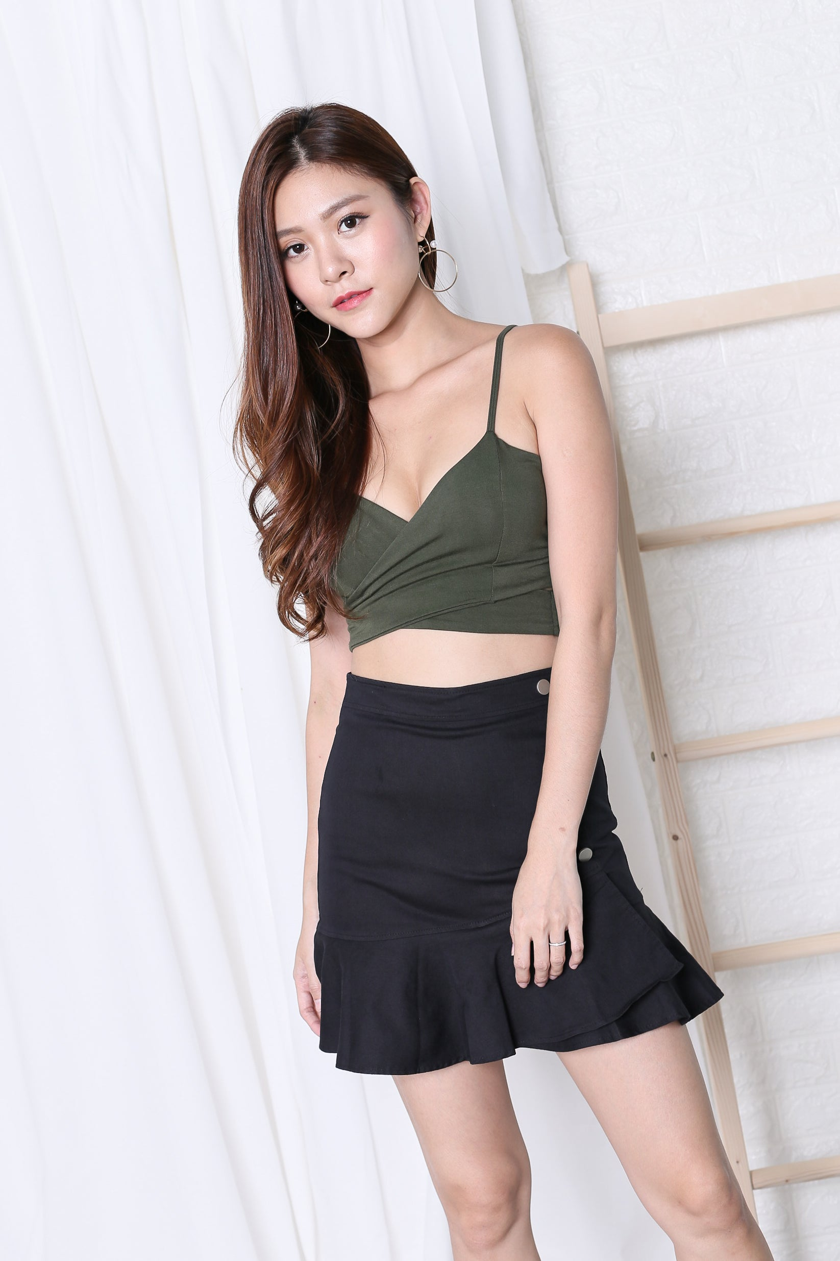 UNDERWRAP BRALET IN ARMY GREEN