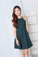 *TPZ* (PREMIUM) KAYLA SKATER DRESS IN FOREST