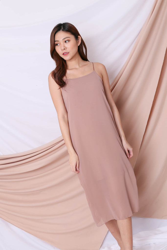 EVA LAYERED DRESS IN NUDE