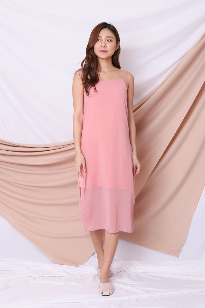 EVA LAYERED DRESS IN PINK