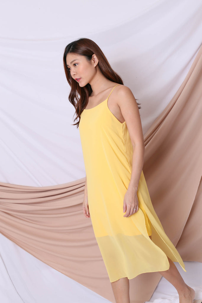 EVA LAYERED DRESS IN SUNSHINE