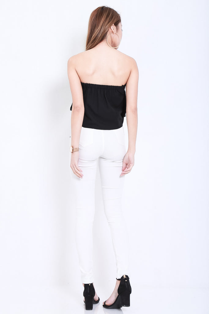 (RESTOCKED) CLASSIC STRETCHY JEGGINGS IN WHITE - TOPAZETTE