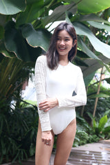 ANSE CROCHET SLEEVES MONOKINI (OFF WHITE)