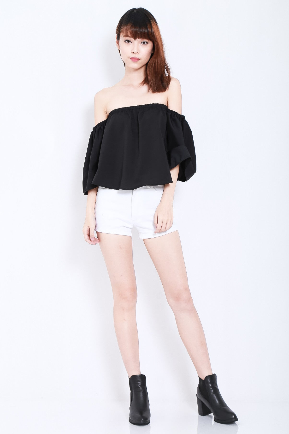 MEANT TO BE OFF SHOULDER TOP IN BLACK