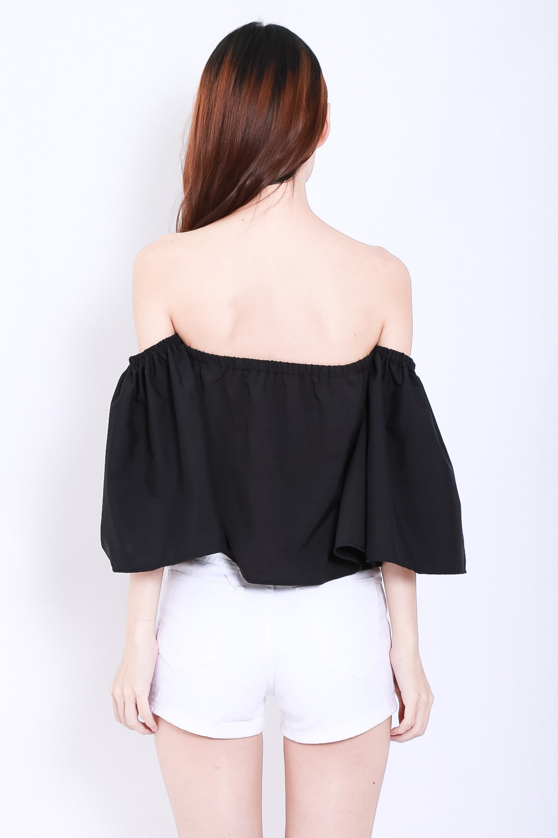 MEANT TO BE OFF SHOULDER TOP IN BLACK - TOPAZETTE