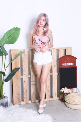 ADDILYN FLORAL TIE BACK TOP IN PINK
