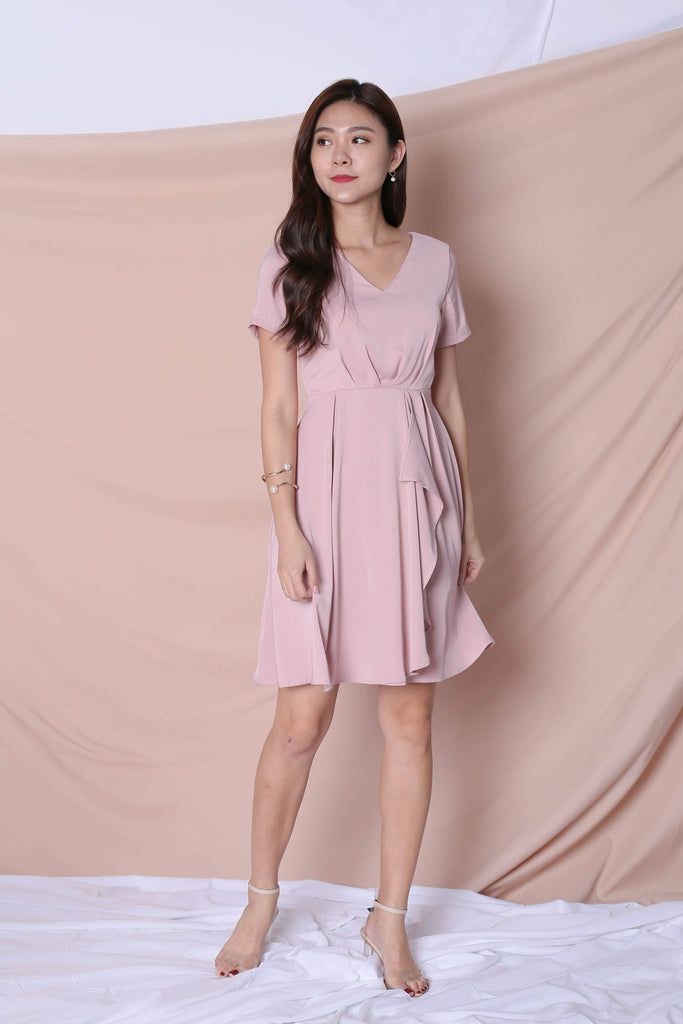 *TPZ* (PREMIUM) TIVIA DRESS IN DUSTY PINK - TOPAZETTE