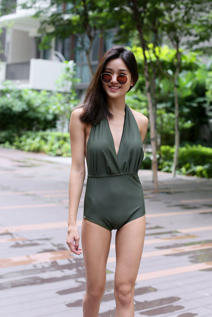*RESTOCKED* OFF SHORE MONOKINI (OLIVE) - TOPAZETTE