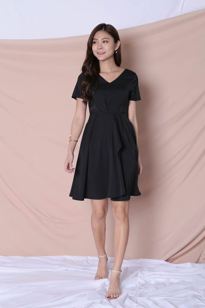 *TPZ* (PREMIUM) TIVIA DRESS IN BLACK - TOPAZETTE