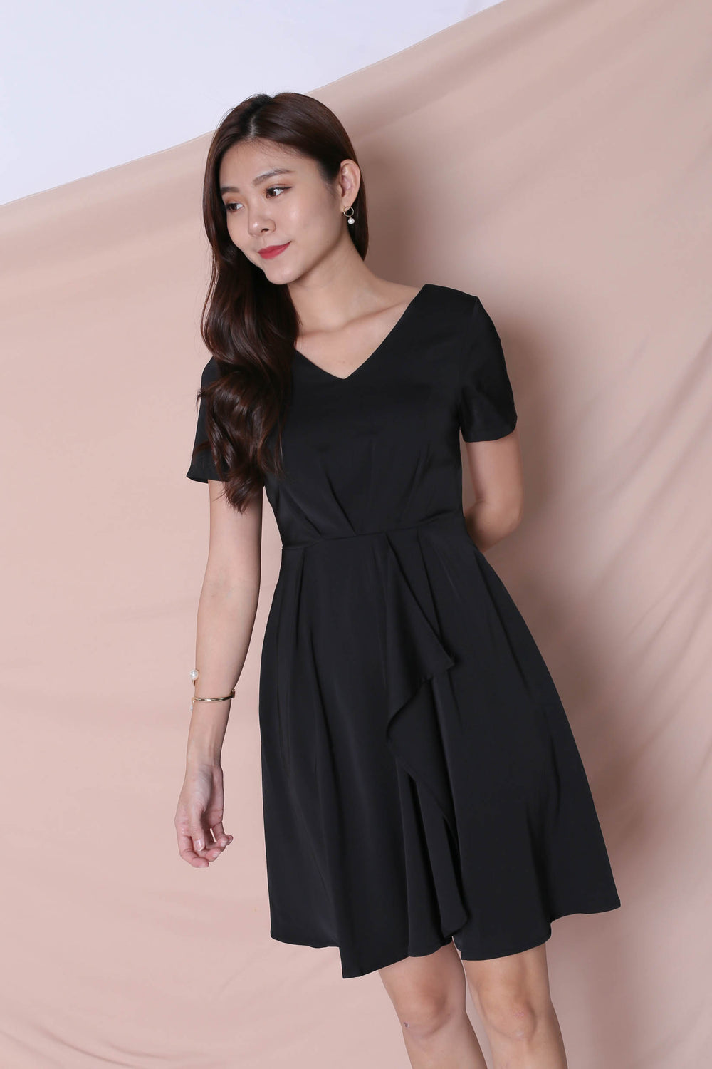 *TPZ* (PREMIUM) TIVIA DRESS IN BLACK
