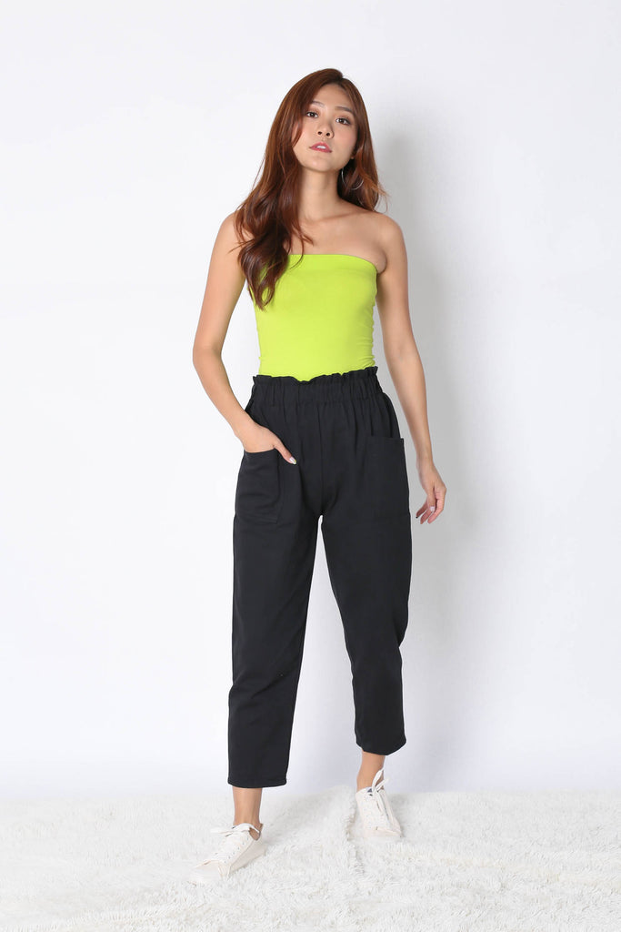 THE VERY BASIC TUBE TOP IN NEON GREEN - TOPAZETTE