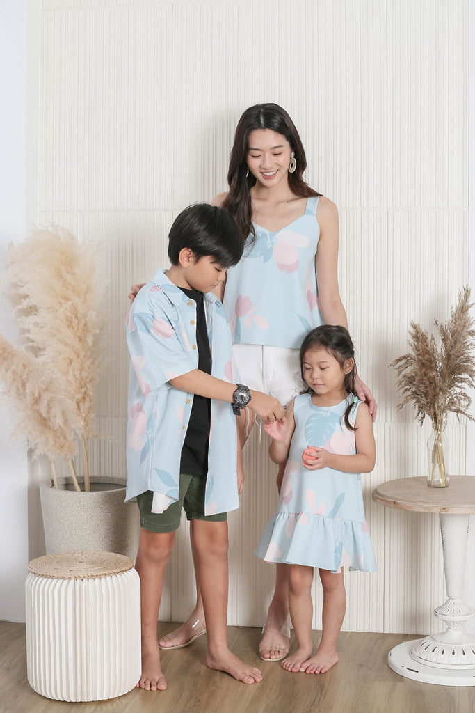 *LITTLE TOPAZETTE* PASTEL DREAMS KIDS UNISEX SHIRT IN PASTEL BLUE