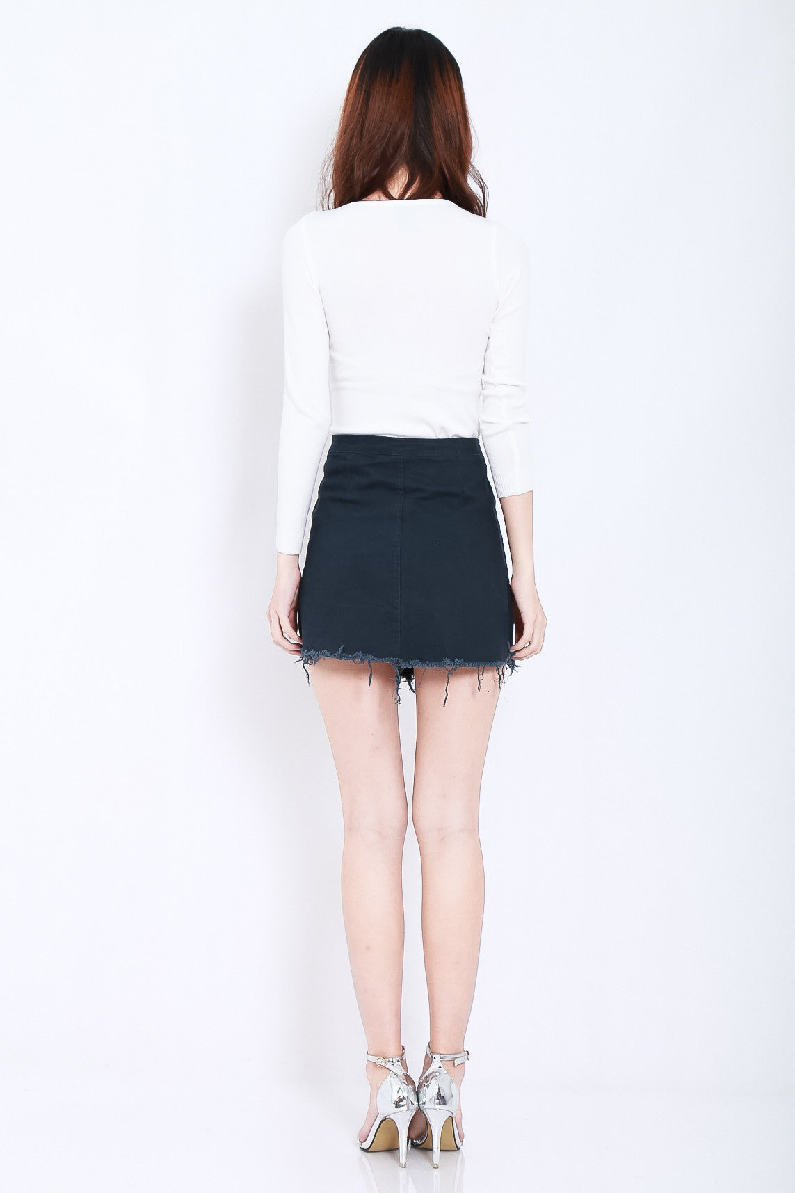 SOFT SNUG KNIT TOP IN WHITE