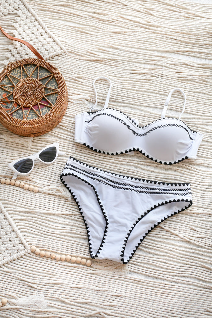 BOHEMIAN 2 PC BIKINI SET (WHITE)