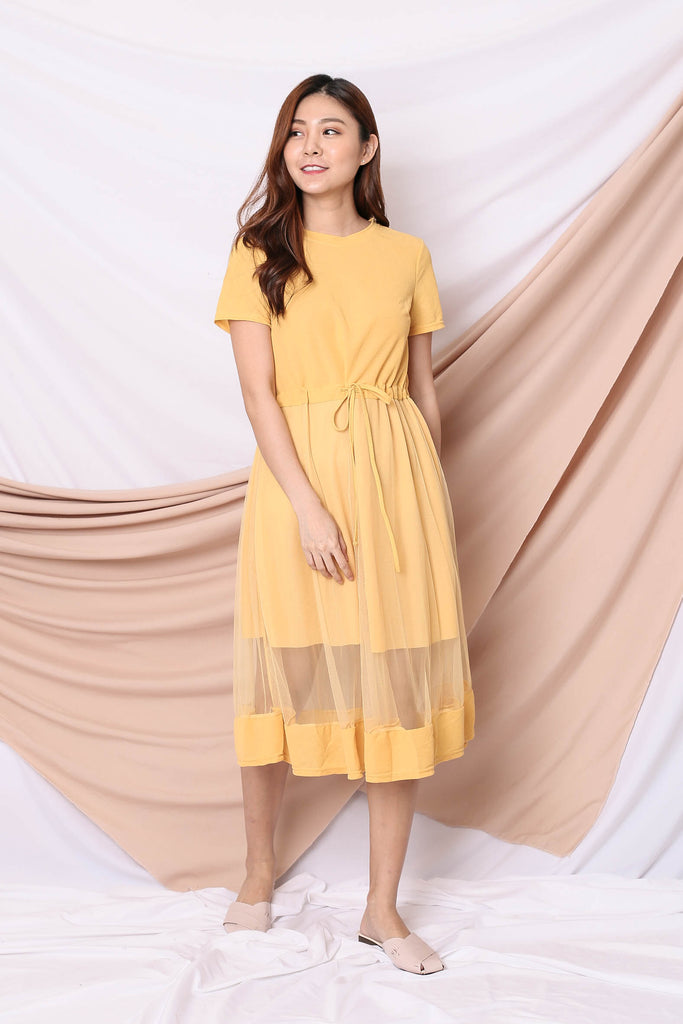 YERA TULLE TEE DRESS IN SUNSHINE