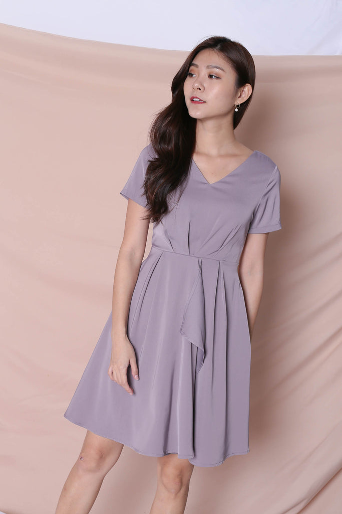 *TPZ* (PREMIUM) TIVIA DRESS IN DUSTY LAVENDER - TOPAZETTE