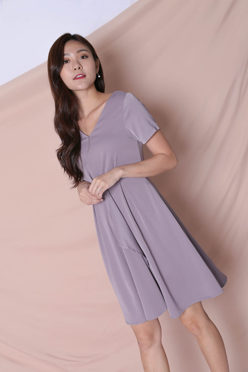 *TPZ* (PREMIUM) TIVIA DRESS IN DUSTY LAVENDER
