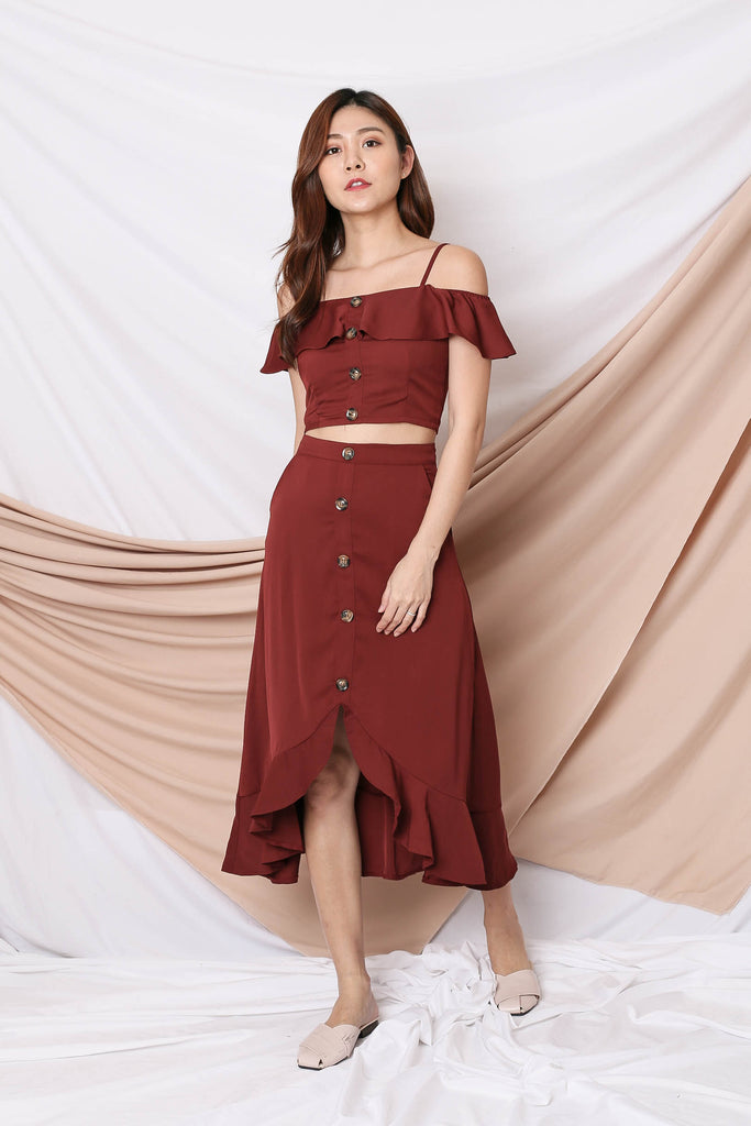 *TPZ* (PREMIUM) KELSY 2 PC SET IN DEEP BURGUNDY