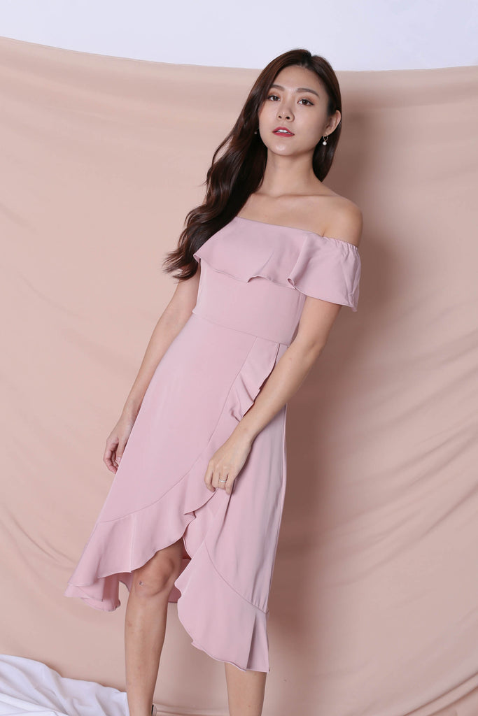 *TPZ* (PREMIUM) HEBE DRESS IN DUSTY PINK