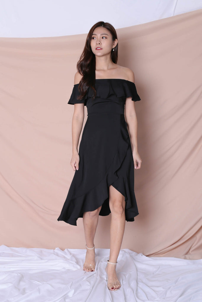 *TPZ* (PREMIUM) HEBE DRESS IN BLACK