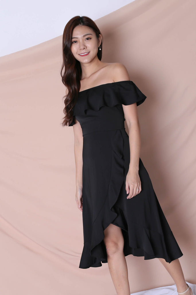 *TPZ* (PREMIUM) HEBE DRESS IN BLACK - TOPAZETTE