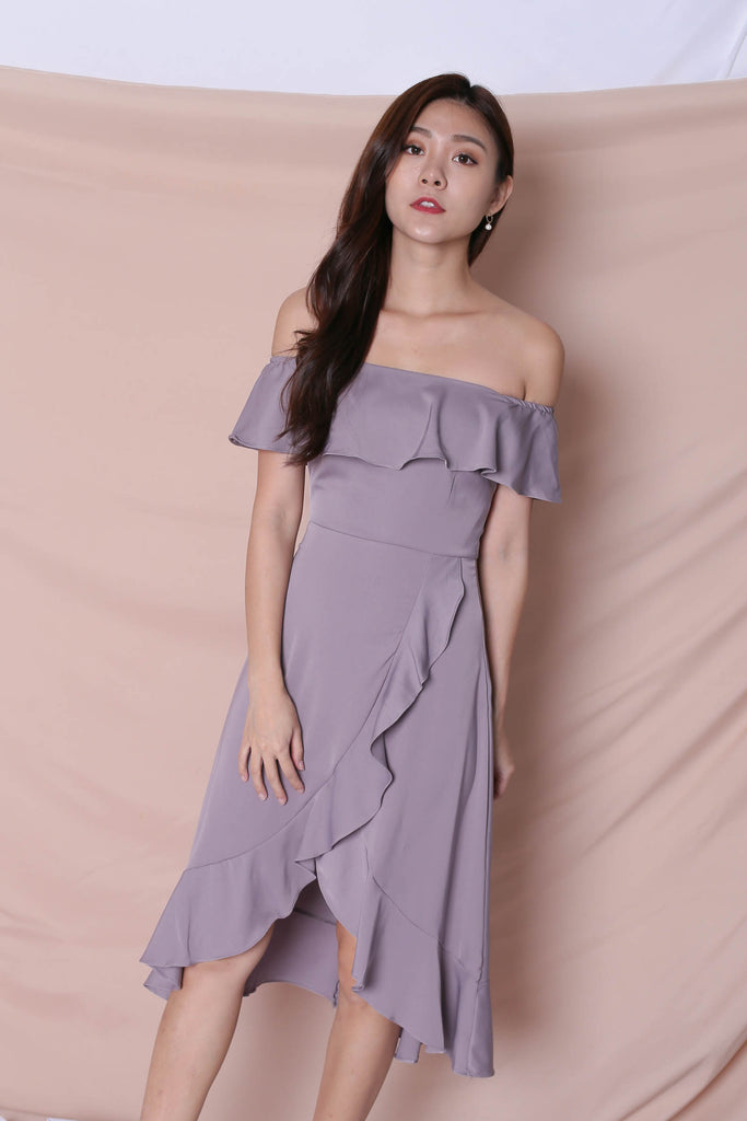*TPZ* (PREMIUM) HEBE DRESS IN DUSTY LAVENDER - TOPAZETTE