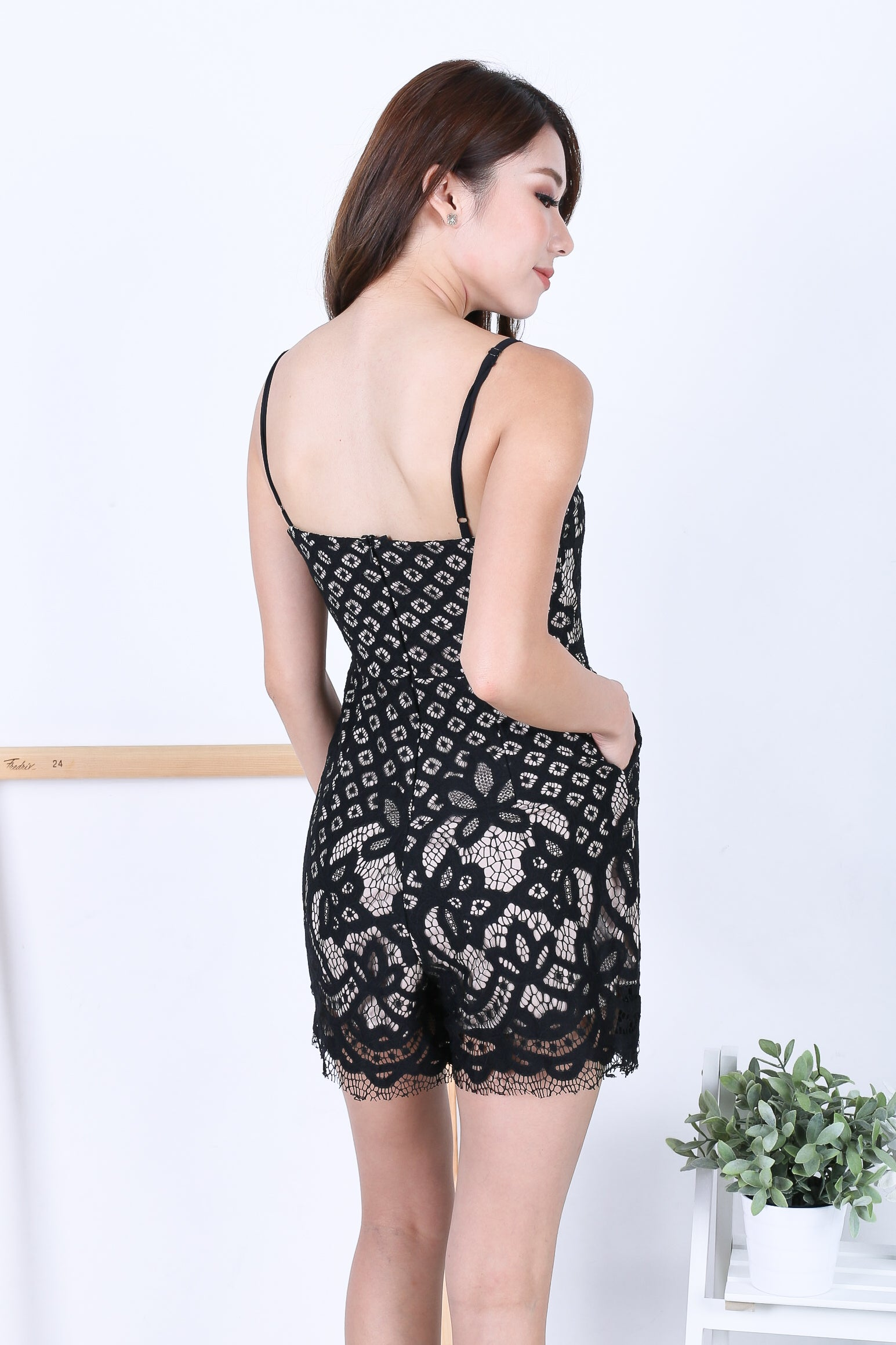 *RESTOCKED* (PREMIUM) BIANCA CROCHET ROMPER IN BLACK