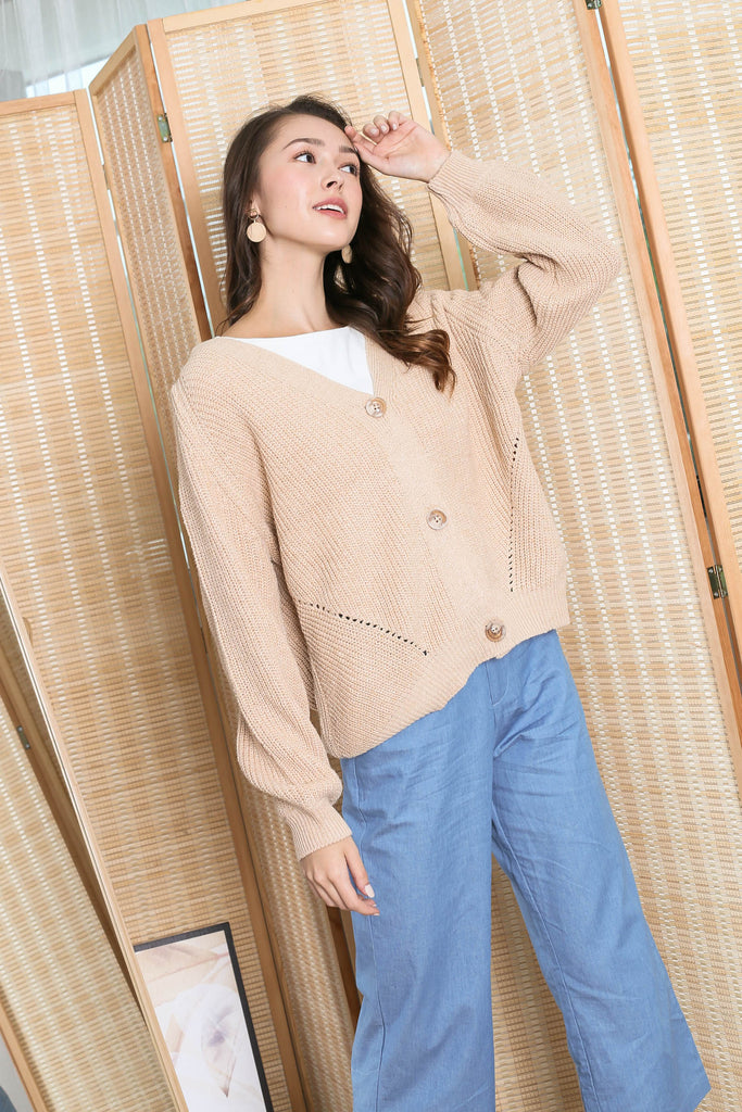*BACKORDER* CASSIE KNIT CARDIGAN IN OATMEAL