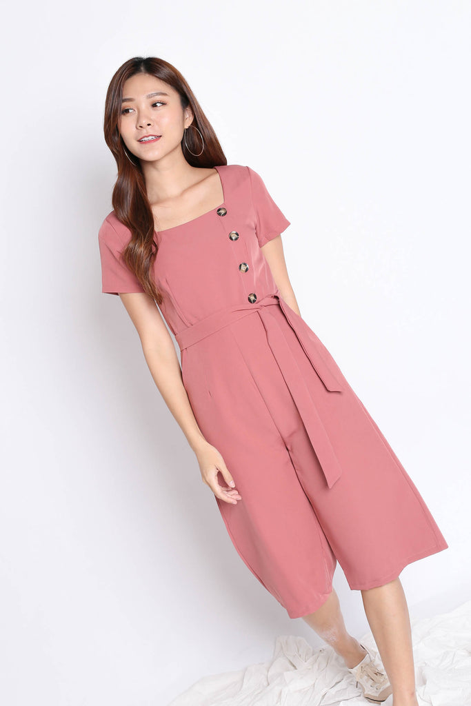 *TPZ* (PREMIUM) ELI CULOTTES JUMPSUIT IN TEA ROSE