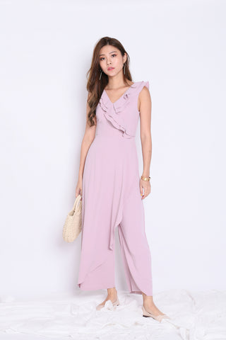 (PREMIUM) TALYSE JUMPSUIT IN DUSTY PINK