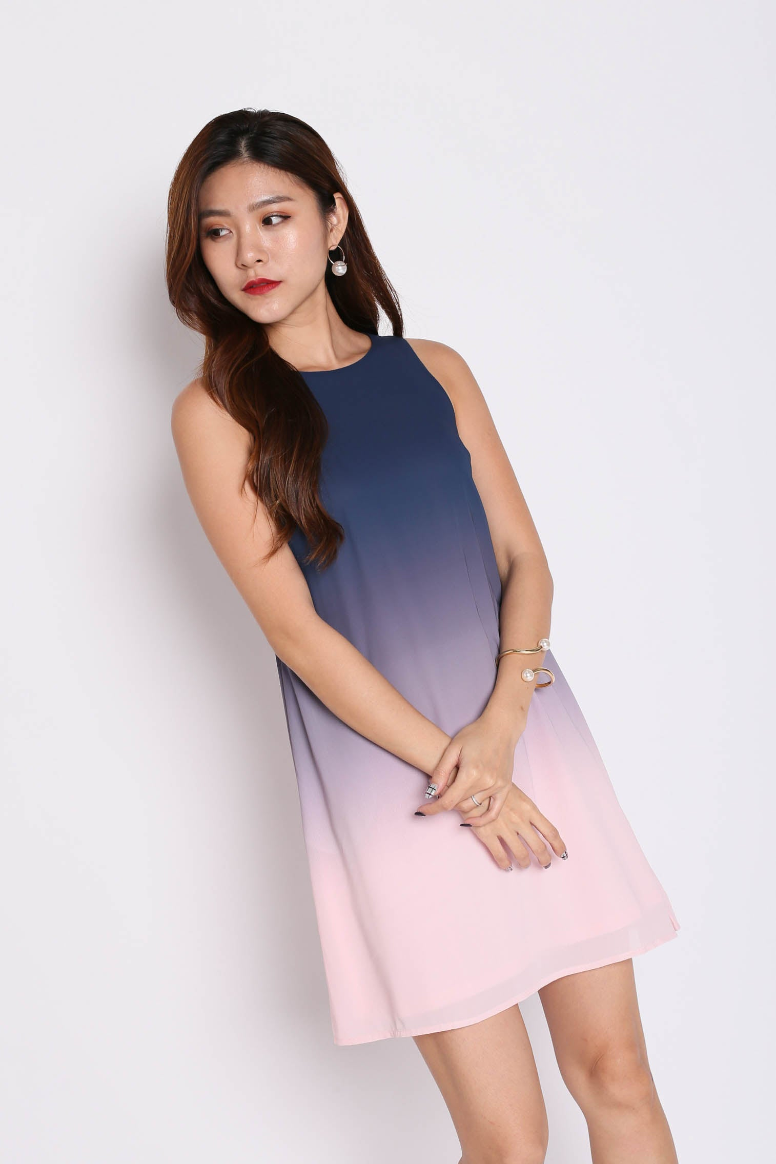 *TPZ* (PREMIUM) CLASSIC OMBRE TRAPEZE (NAVY/ PINK)