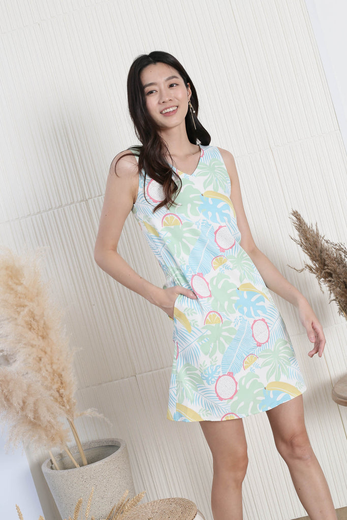 *TPZ* (PREMIUM) FRUITY FIESTA TRAPEZE DRESS