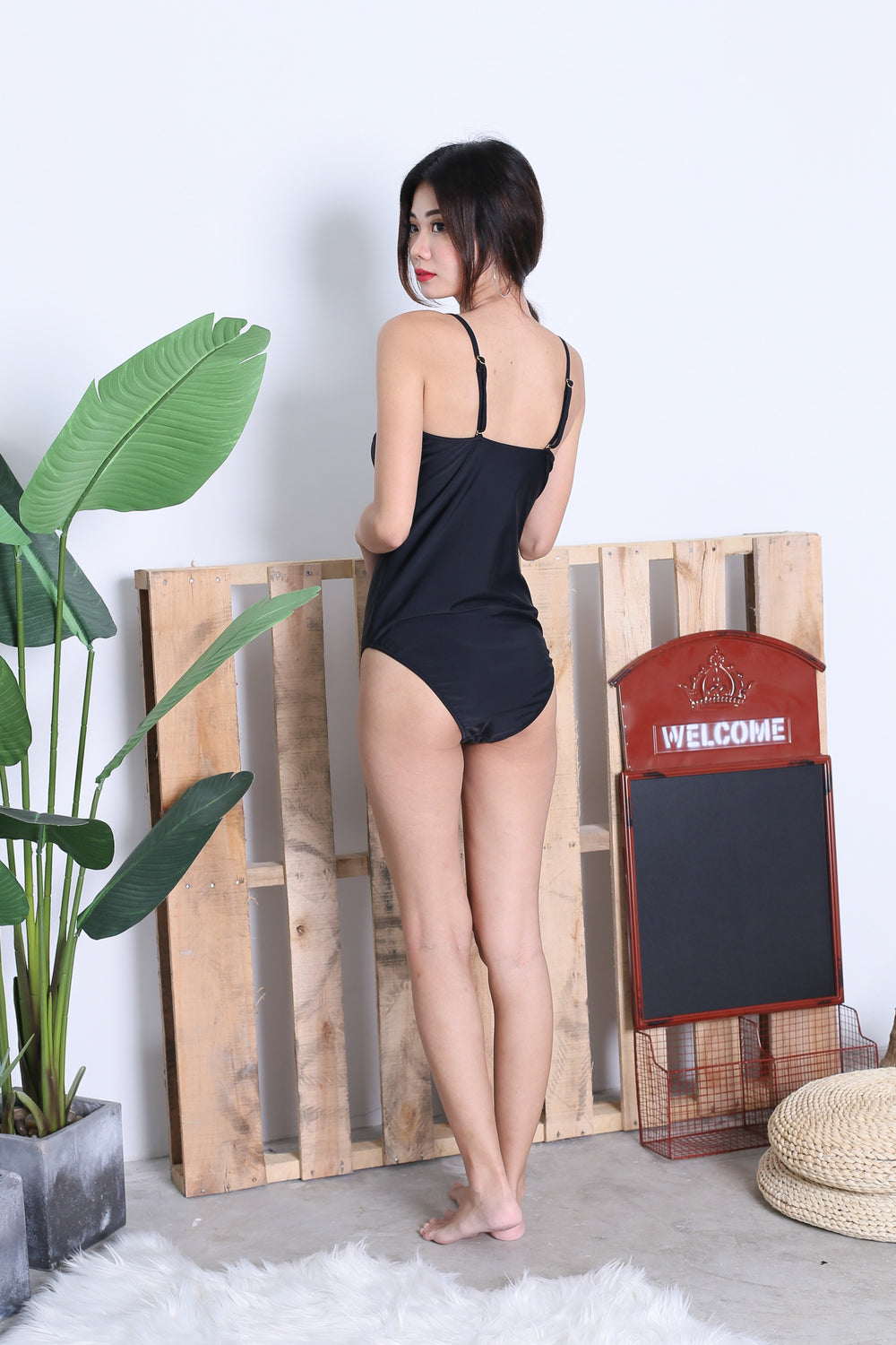 *RESTOCKED* LACED UP MONOKINI (BLACK)
