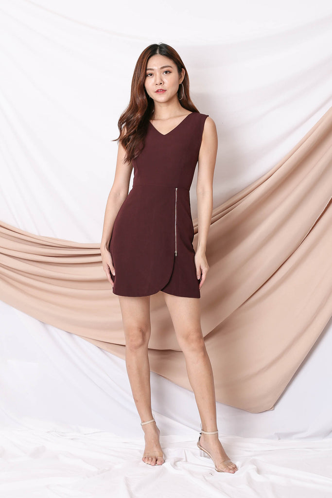 *TPZ* (PREMIUM) ARIA DRESS IN PLUM