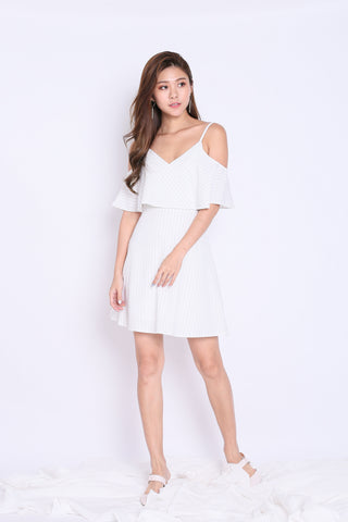 *TPZ* (PREMIUM) LENDON STRIPES DRESS IN WHITE